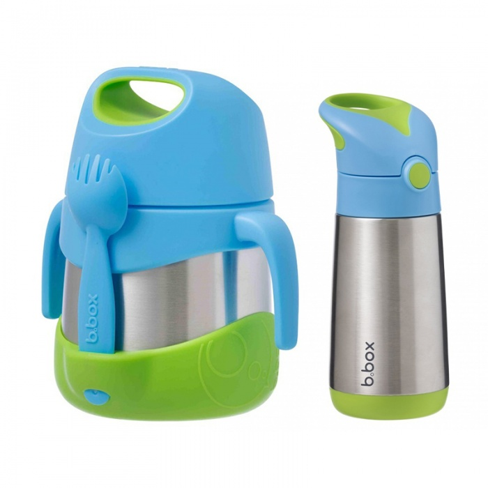b.box Ocean Breeze Kids' Insulated Bottle and Jar Bundle