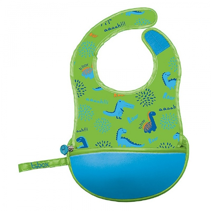 b.box Dino Time Green Baby Travel Bib