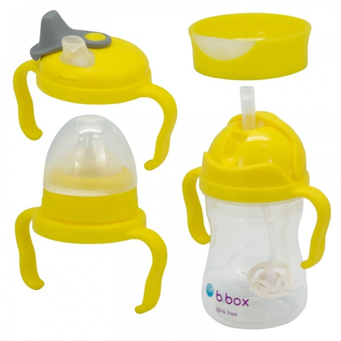 b.box Lemon Yellow Baby Weaning Transition Pack