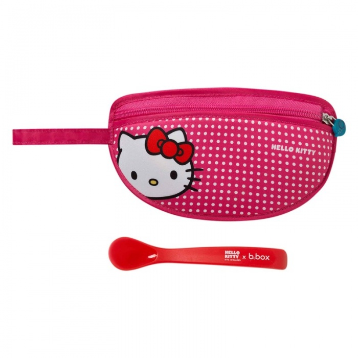 b.box Pop Star Pink Hello Kitty Baby Travel Bib