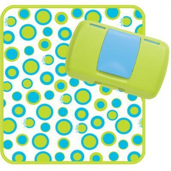 b.box Retro Circles Green and Blue Nappy Wallet