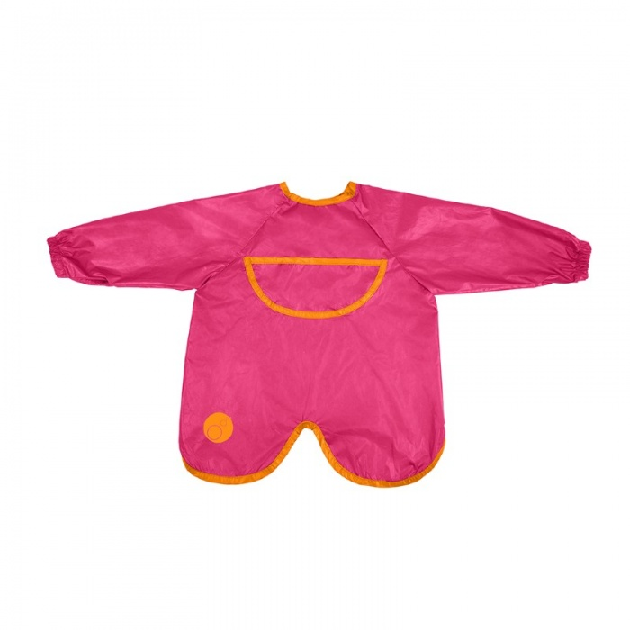 b.box Strawberry Shake Pink Smock Bib