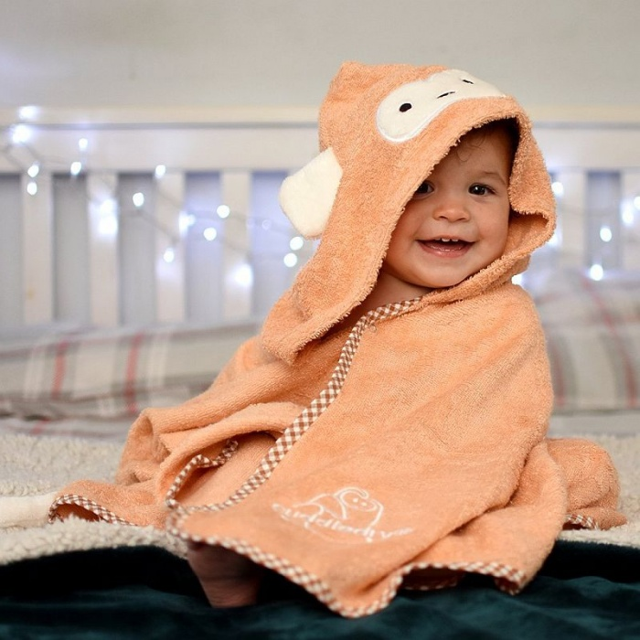Cuddledry Cuddlemonkey Toddler Hooded Monkey Towel