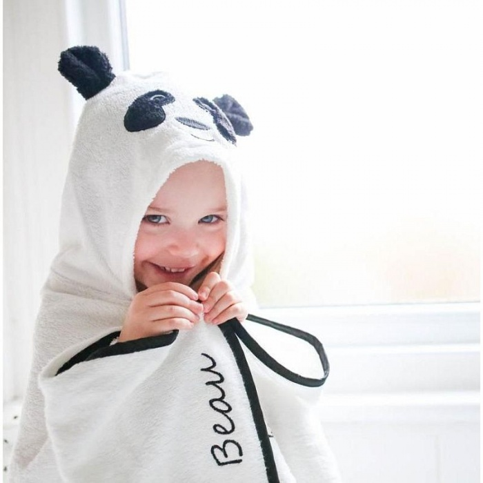 Cuddledry Cuddlepanda Baby Hooded Panda Towel Animal