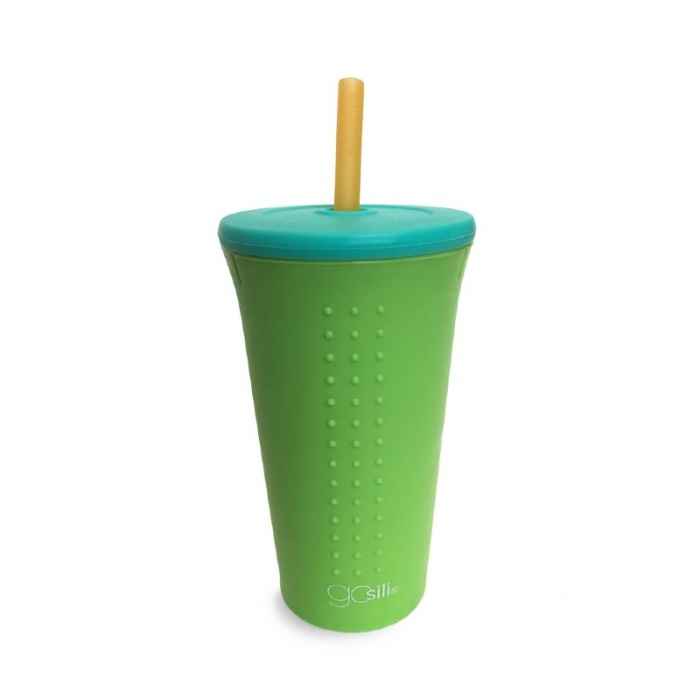 GoSili Silicone Lime Extra Large Straw Cup