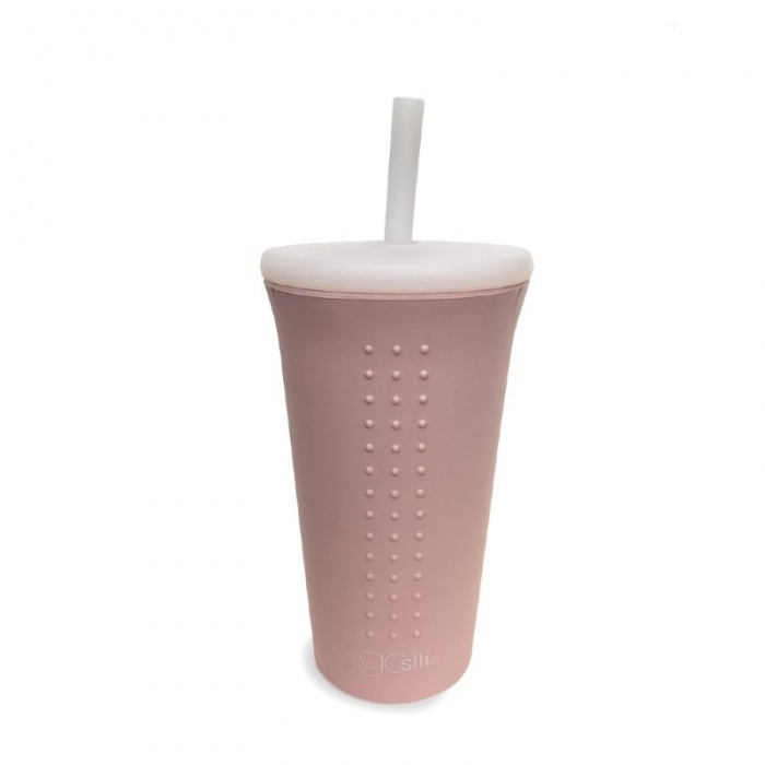 GoSili Silicone Millennial Pink Extra Large Straw Cup