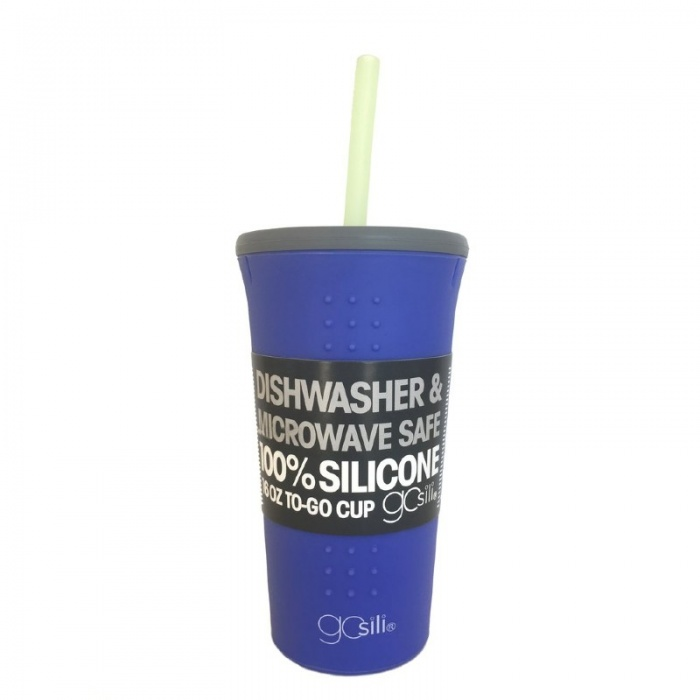 GoSili Silicone Violet/Grey Extra Large Straw Cup