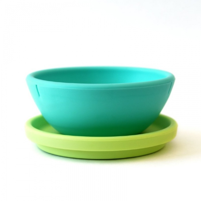 GoSili Silikids Silicone Kids' Bowl and Plate Set