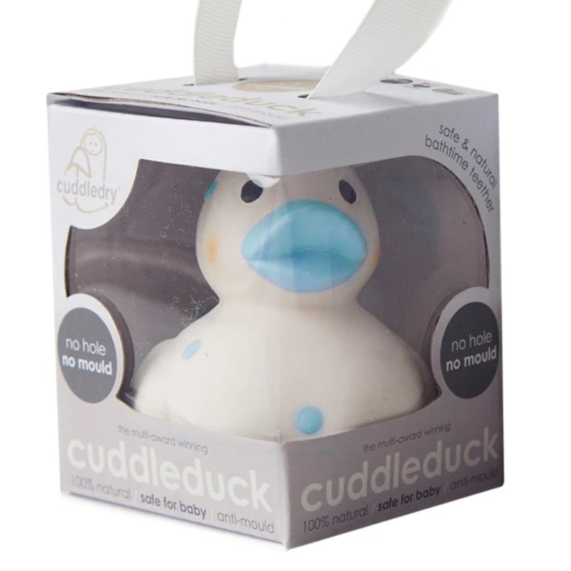 Cuddledry Cuddleduck Blue Baby Bath Duck Toy and Baby Teether