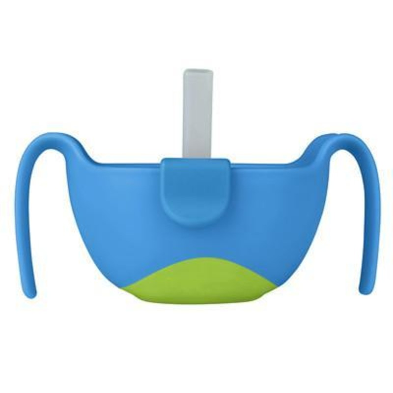 b.box Ocean Breeze Blue Extra Large Kids' Bowl and Straw