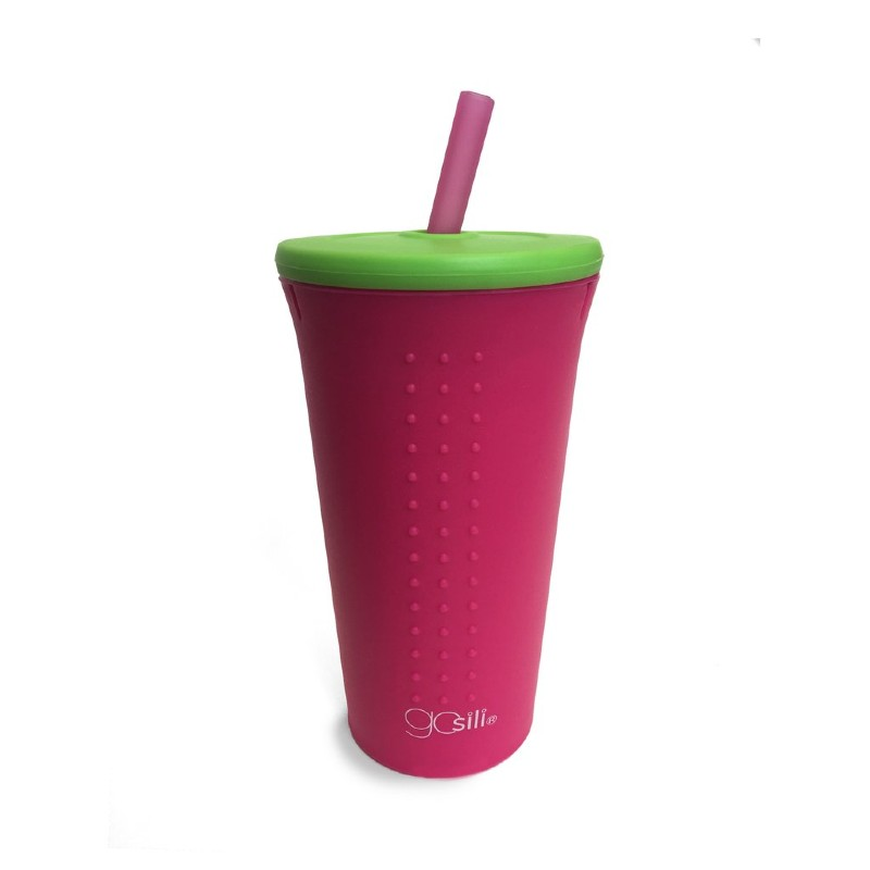 GoSili Silicone Watermelon Extra Large Straw Cup