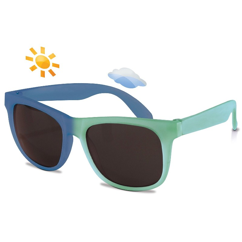 Real Shades Light Green/Royal Blue Switch Sunglasses for Kids 7+