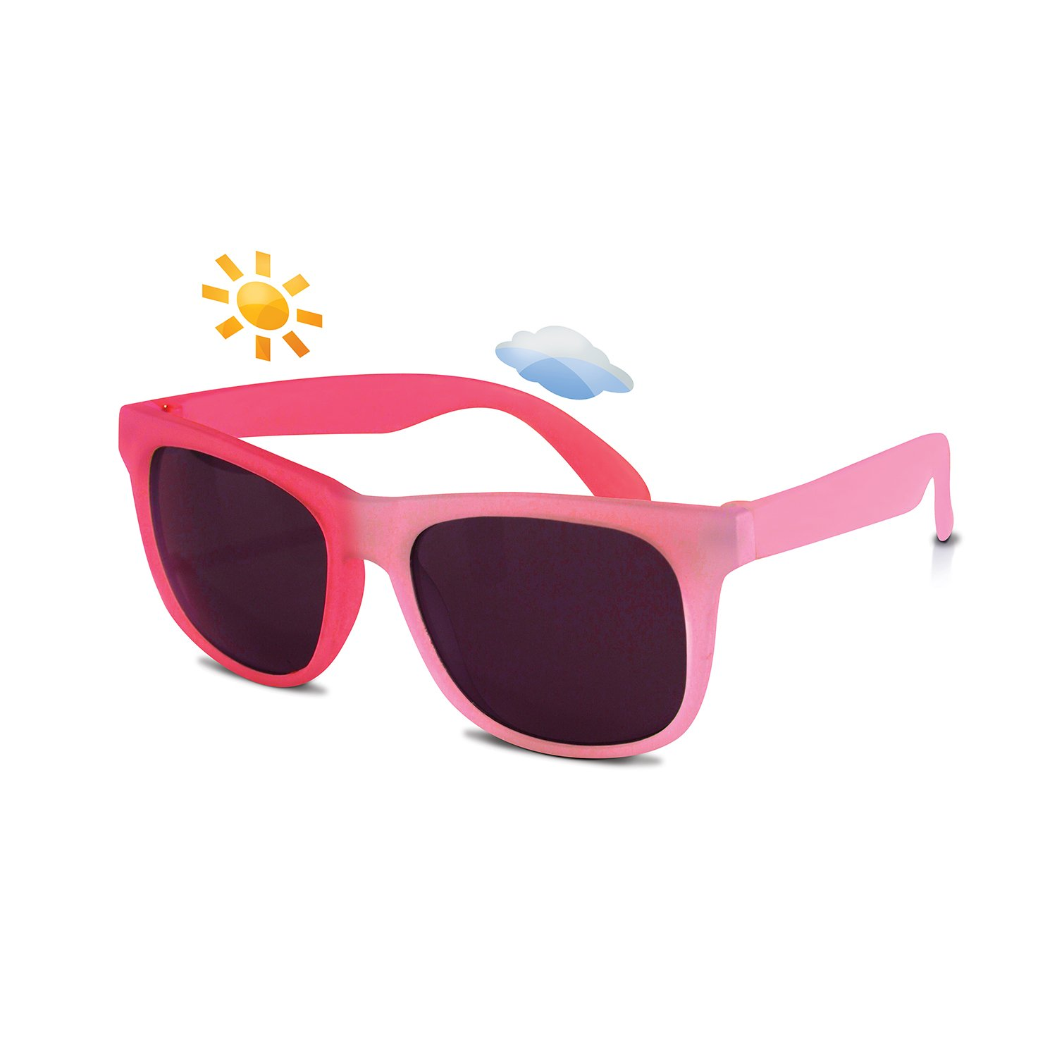 Real Shades Light Pink/Pink Switch Sunglasses for Toddlers