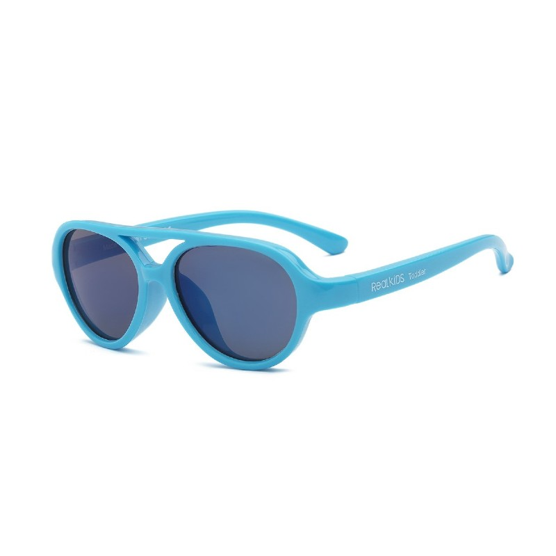 Real Shades Sky Neon Blue Sunglasses for Kids 7+