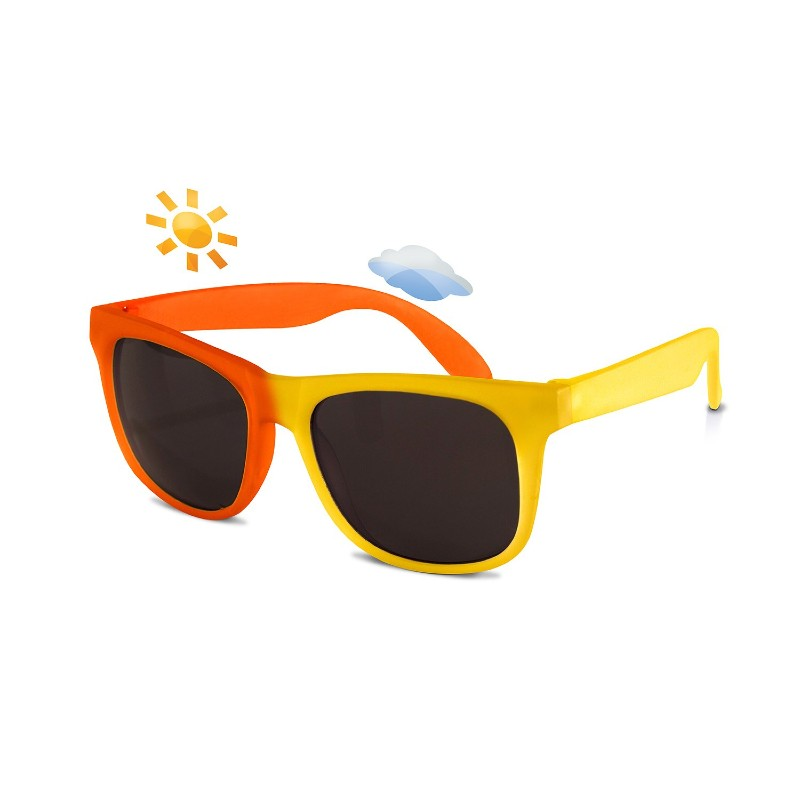 Real Shades Yellow/Orange Switch Sunglasses for Toddlers
